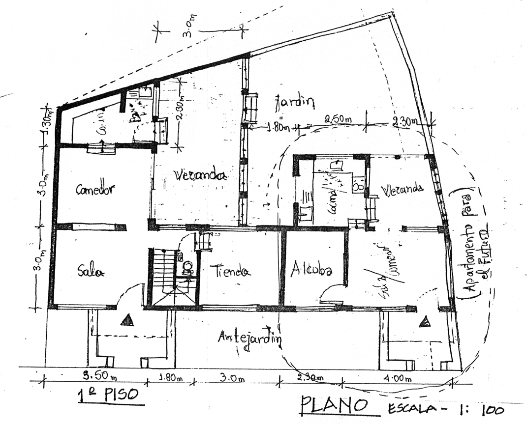 Building Drawing Plan – Modern House